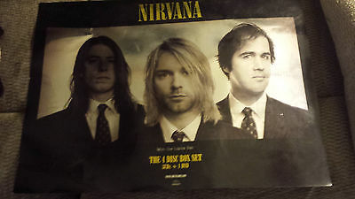 Nirvana With The Lights Out Promo Poster Reflective Mirrored Version  RARE