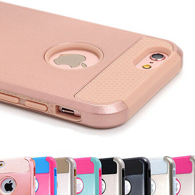 For iPhone XS X 8 7 6s Plus Case Shockproof Hybrid Rubber Hard Heavy Duty Cover