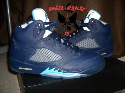 8d4178b7a0cd NIKE AIR JORDAN 5 V Retro Hornets Pre Grape Midnight Navy Turquoise ...