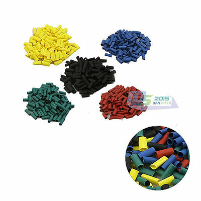500pcs Polyolefin 2:1 Heat Shrink Tubing Electrical Wrap Wire Cable Sleeving Kit