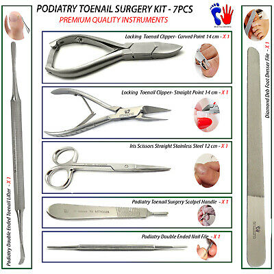 Chiropody Podiatry Supplies Tools Kit For Thick Toenails Surgery and Procedures