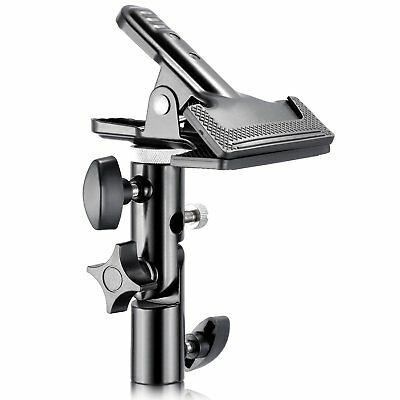PhotR Heavy Duty Metal Photo Studio Clamp Clip Holder 5in1 Reflector Light Stand