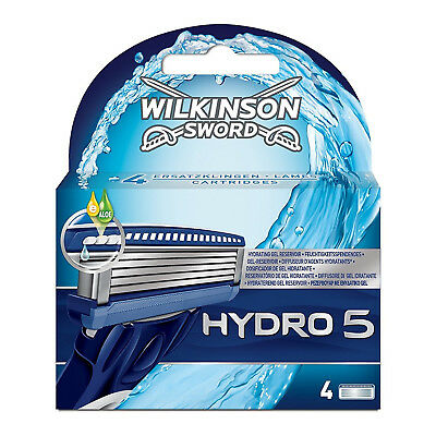 New Genuine Wilkinson Sword Hydro 5 Blades Pack of 4 (Hydro5P4)