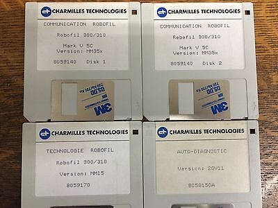 Charmilles Robofil 300/310 Software Installation Disks - Version MM35x