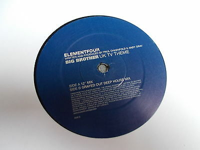 "Element Four Big Brother UK TV Theme 12"" Channel Four Music 2000"
