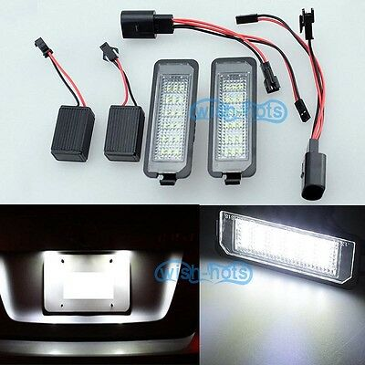 2Pcs Canbus Led License Number Plate lamp light Fit SEAT EXEO 2008 up LEON Mk2