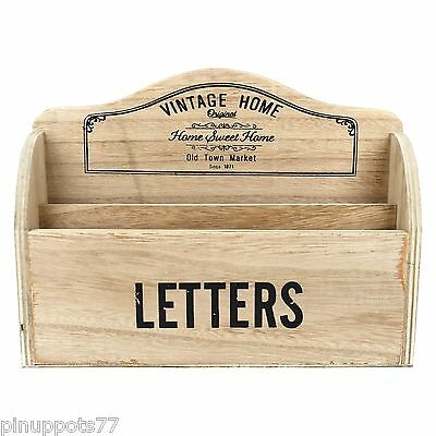 Vintage Style Wooden Letter Rack Home Sweet Home Shabby Chic Gift