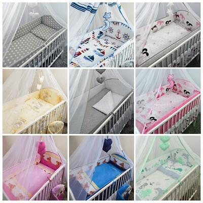 Cot & Cot Bedbedding Set Long All Round Large Bumper 3 Pcs 5 6 Piece