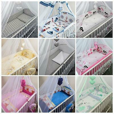 Cot & Cotbed Bedding Set Long All Round Large Bumper 3 Pcs 5 6 Piece
