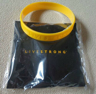 """NIKE Livestrong Yellow LiveStrong Bracelet WristBand Arm Band XXL 9"""" 230mm New"""