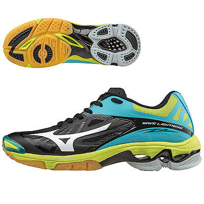 Mizuno-Wave-Lightning-Z2-Womens-Volleyball-Shoe-Black/Blue Atoll