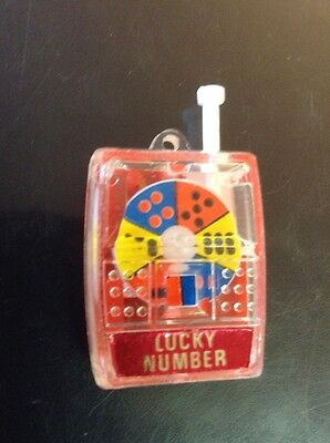 "Vintage 1x ""LUCKY NUMBER"" Gambling Game Keychain  ""$10 Max Ship On Loose Charms"""