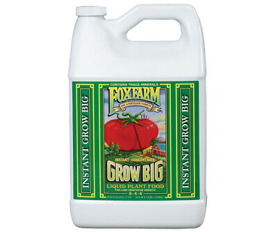 Fox Farm Grow Big Soil 1 Gallon -qt nutrients foxfarm hydroponics