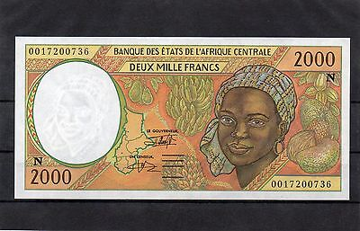 EQUATORIAL GUINEA Central African States Africa 2000 Francs 2000 UNC p-503Ng