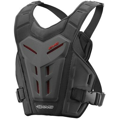 EVS NEW Mx RV4 Black Chest Protector Roost Guard Motocross Revo 4 Body Armour