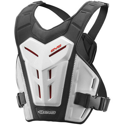 EVS NEW Mx RV4 White Chest Protector Roost Guard Motocross Revo 4 Body Armour