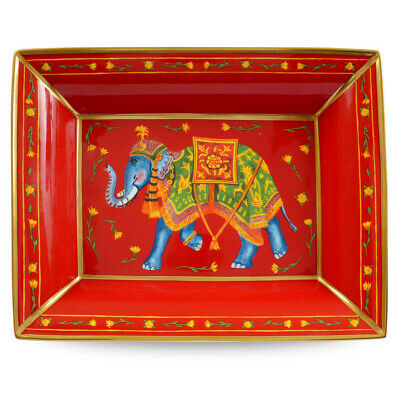 NEW Halcyon Days Ceremonial Elephant Red Trinket Tray