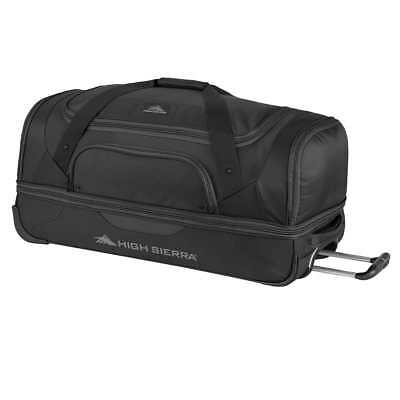 "High Sierra 30"" Drop Bottom Wheeled Duffel Luggage Bag Travel Suitcase 76.2cm BK"