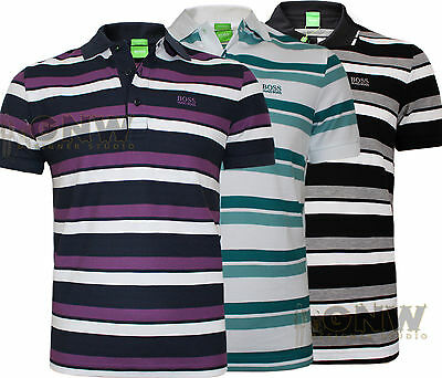 Hugo Boss Men's Gr Picard Stripe Polo Shirt/ T Shirt S,m,l
