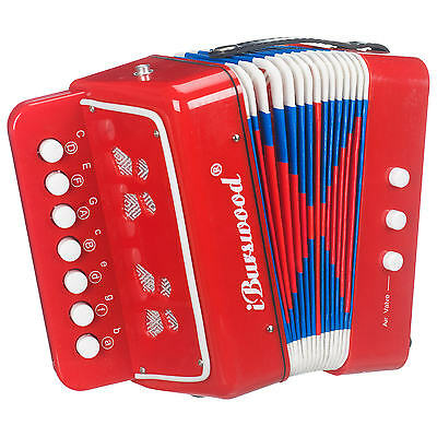Children's Toy Accordion - Classic Traditional Musical Wind Instrument