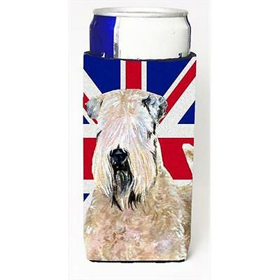Wheaten Terrier Soft Coated With English Union Jack British Flag Michelob Ult...