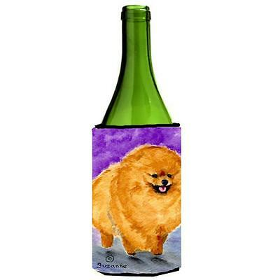 Carolines Treasures SS8681LITERK Pomeranian Wine bottle sleeve Hugger