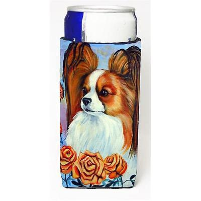 Carolines Treasures 7039MUK Papillon Michelob Ultra bottle sleeve for Slim Can