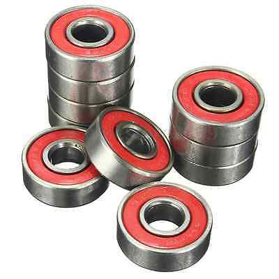 10Pcs Sets Skateboard Longboard Carbon Steel Stainless Bearings Skating