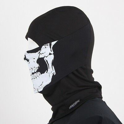 NEW White Skull Balaclava Face Full Mask Warmers Winter Sport  Hat Motorcycle