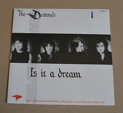 "The ‎ Damned  Is It A Dream 7"" Inch 45 Vinyl Record  PUNK  EX/EX 1985 (EBAY 4)"