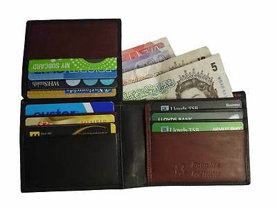 GENUINE REAL Leather Mens Wallet 10 Credit Card Slots Roamlite RL309AW