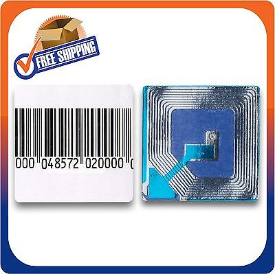 6000 Paper Security Label 1.5X1.5 Inch Rf 8.2Mhz Barcode Eas Checkpoint Compatib