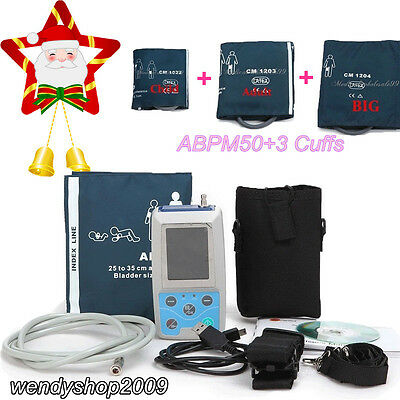 CONTEC 24h NIBP Holter Ambulatory Blood Pressure Monitor USB Software ABPM50 FDA