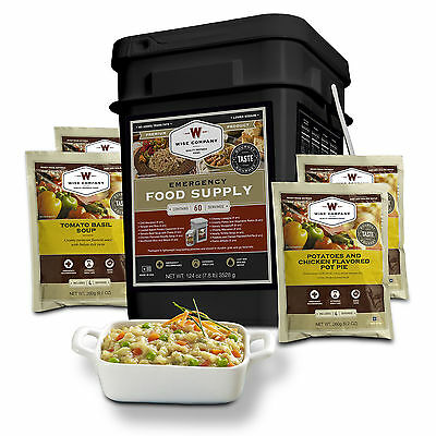 Wise Foods 60 Serving Entree only 01-160 Grab and Go Food Kit