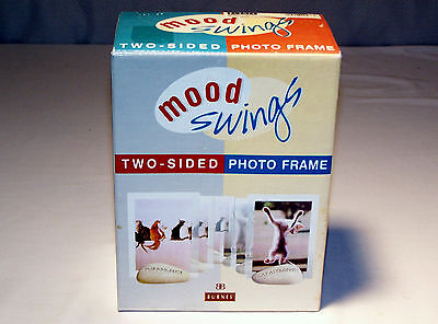 "NIB Free-Standing ""MOOD SWINGS"" CAT THEME Two-Sided PICTURE FRAME"