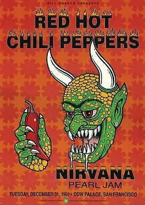 The Red Hot Chili Peppers Cow Palace San Fran 1991Repro POSTER