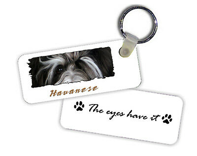 Havanese    # 2     The  Eyes Have It   Key  Chain