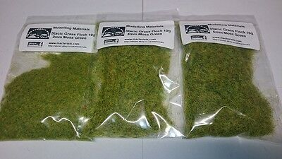Static Grass Moss Green Multipack 2mm 4mm 6mm - Wargame Diorama Hornby
