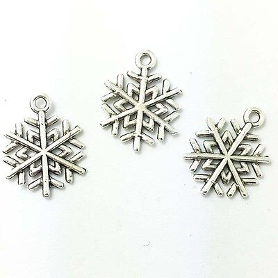 20pcs Christmas Snow Tibetan Silver Bead charms Pendants fit bracelet!