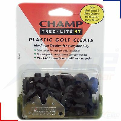 Champ Tred Lite Golf Cleats Large 9mm Thread + Key - 24 PACK - Soft Spikes