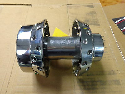 """Harley Chrome Front Hub 21"""" from a 2002 Dyna Wide Glide With Sealed Bearings"""
