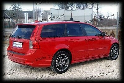 Volvo V50 2004-2012 Before & After Lifting Rear Roof Spoiler ~PRIMED & PREPARED~