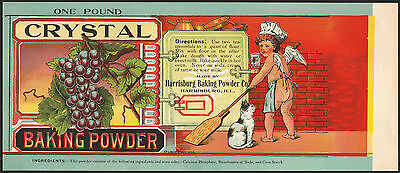 *Original* CRYSTAL BAKING POWDER Illionois Cat NUDE CHERUB Can Label NOT A COPY