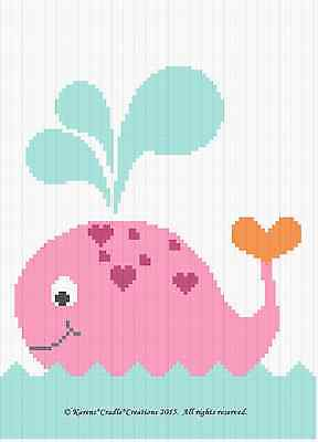 Crochet Patterns - WHALE Baby GIRL Graph/Chart Afghan Pattern