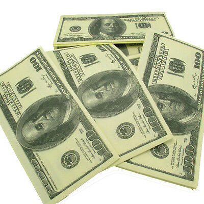 100$ Dollars Napkin US Dollar Bill Paper Towel Novelty Fun Tricky Gift