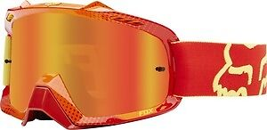 Fox Mx Gear 2015 AIRSPC 360 RACE RED/YELLOW Motocross Goggles ORANGESPARK LENS