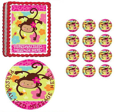 Monkey Love Mod Pink Animal Luau Kids Birthday Party Favor Hair Clips Barrettes Gadgets en speeltjes