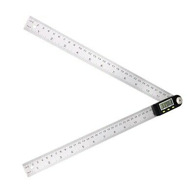 300mm 12'' Digital Protractor Inclinometer Goniometer Stainless Steel Angle Rule