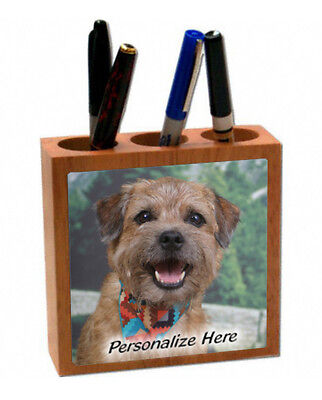 Border  Terrier  Personalized  Pencil and Pen Holder