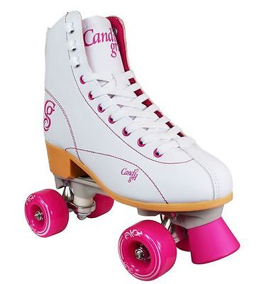 RDS Candi Girl Ladies Quad Fashion High White and Pink Roller Skates US Size 7